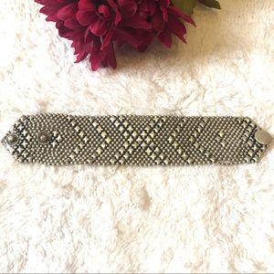 Silver Statement Fashion Bracelet